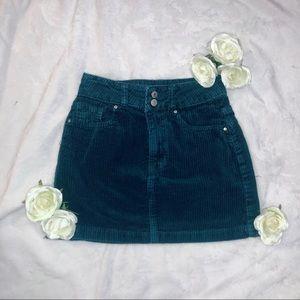 Green Corduroy Skirt   PacSun